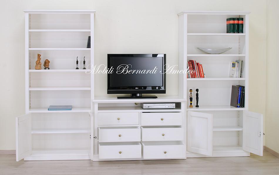 Libreria con porta tv librerie - Costruire mobile per televisione ...