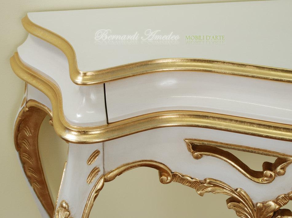 Console (consol, consolle) in stile barocco, tutta in legno massello ...