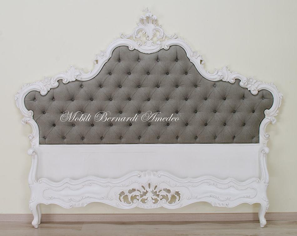 Letto barocco laccato letti - Pediera del letto ...