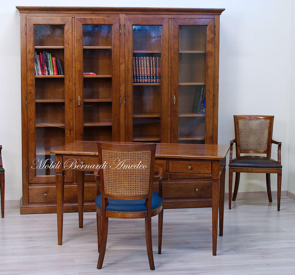 Fabulous librerie in legno massello with scrivania legno for Mobili legno design