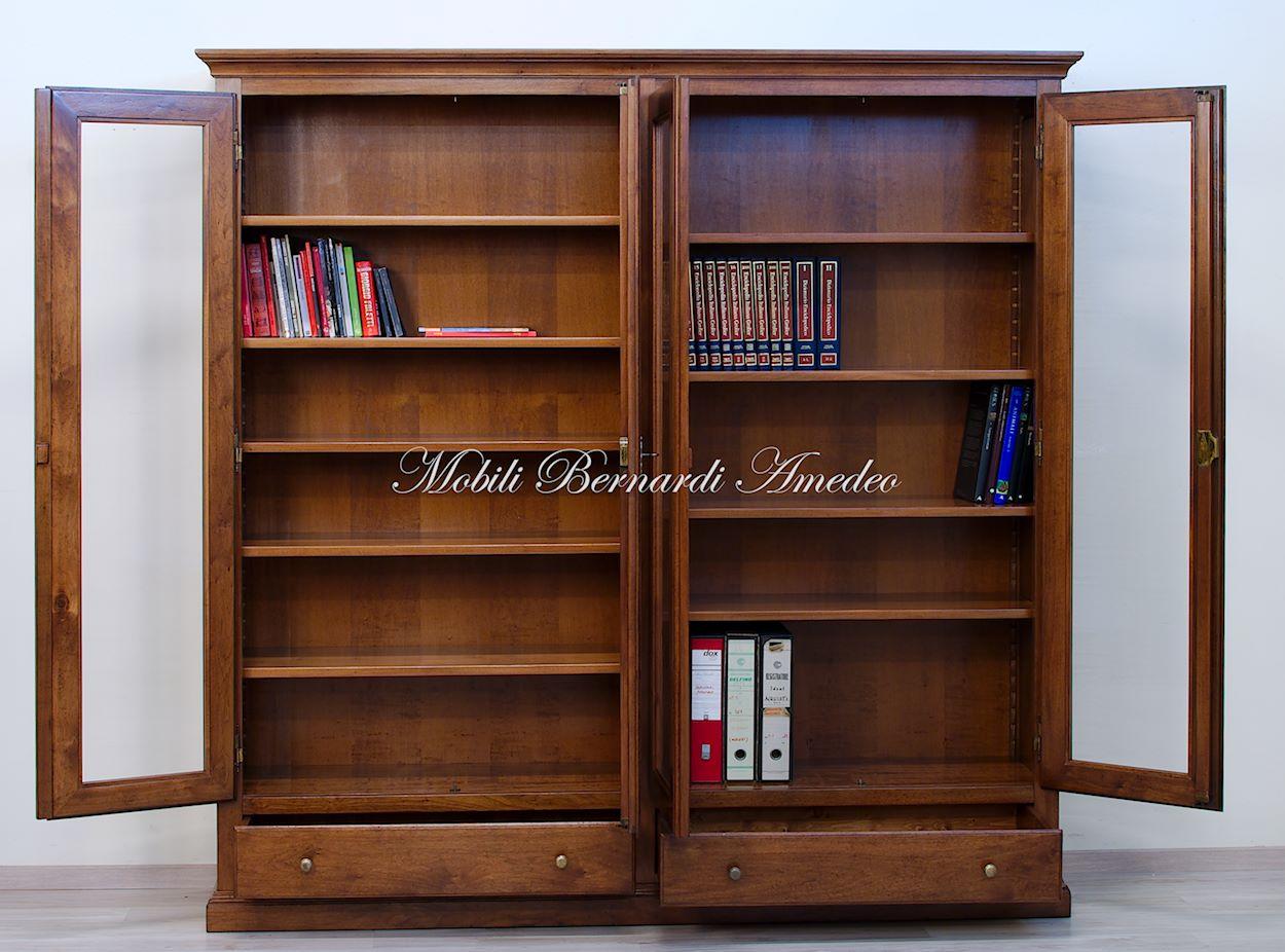 Librerie in legno massello 14 librerie - Libreria con ante ikea ...