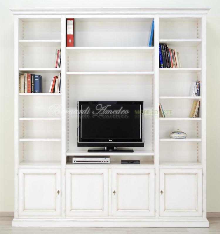 Libreria con porta tv librerie - Libreria mobile tv ...
