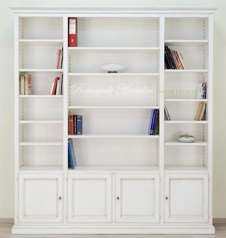 Libreria con porta tv librerie - Mobili color avorio ...