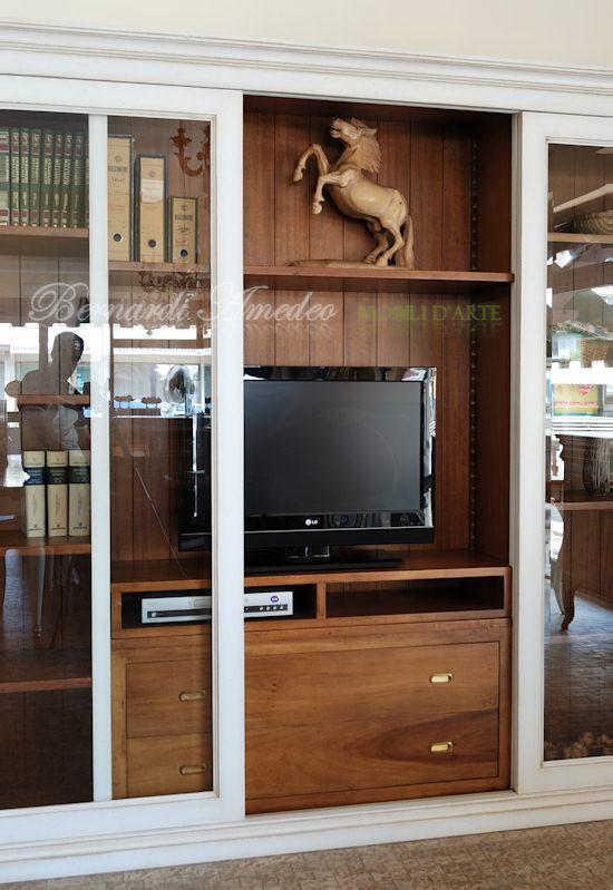 Librerie in legno 9 librerie - Libreria con porta scorrevole ...