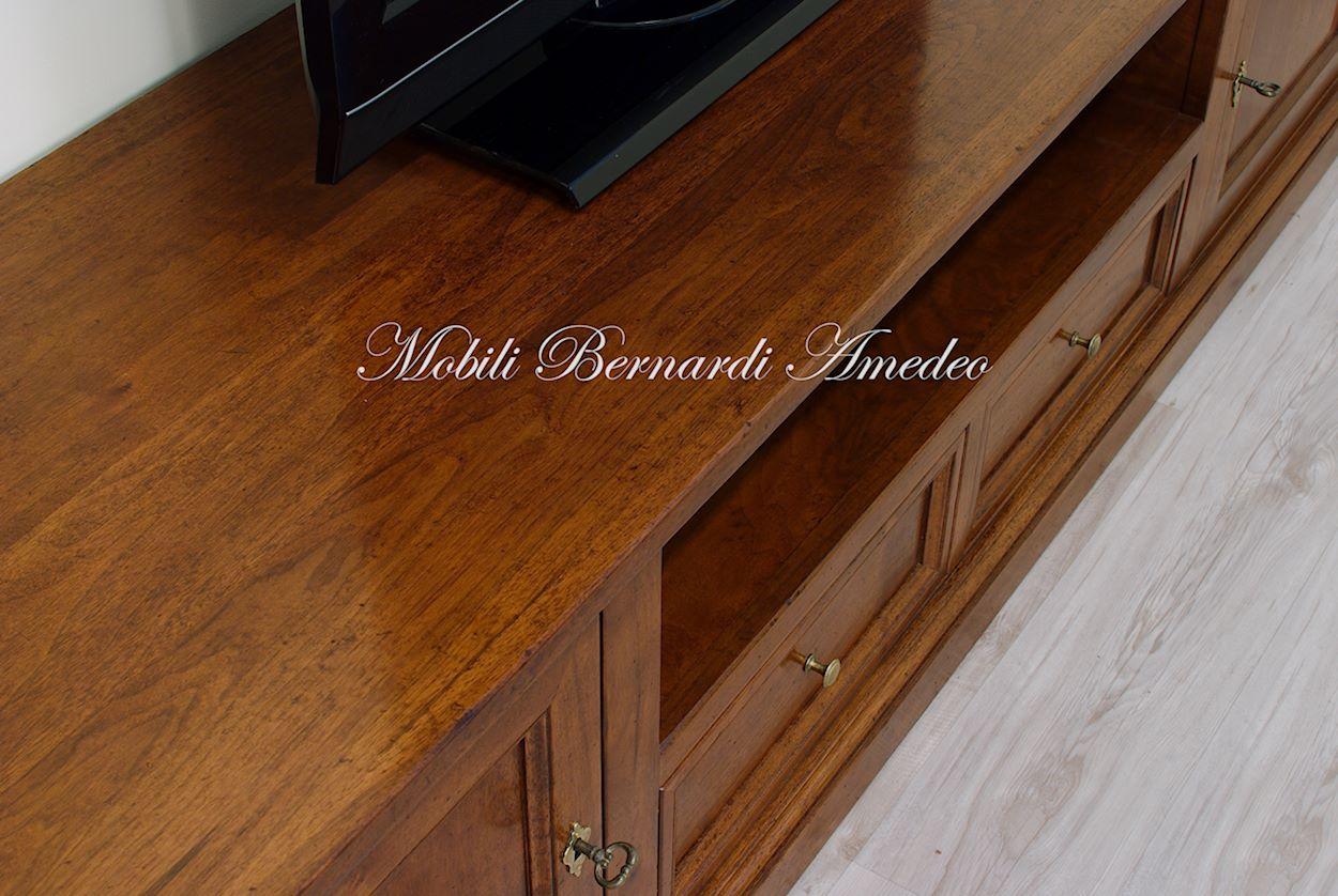 Porta tv in noce massello 2 porta tv - Porta dvd in legno ...