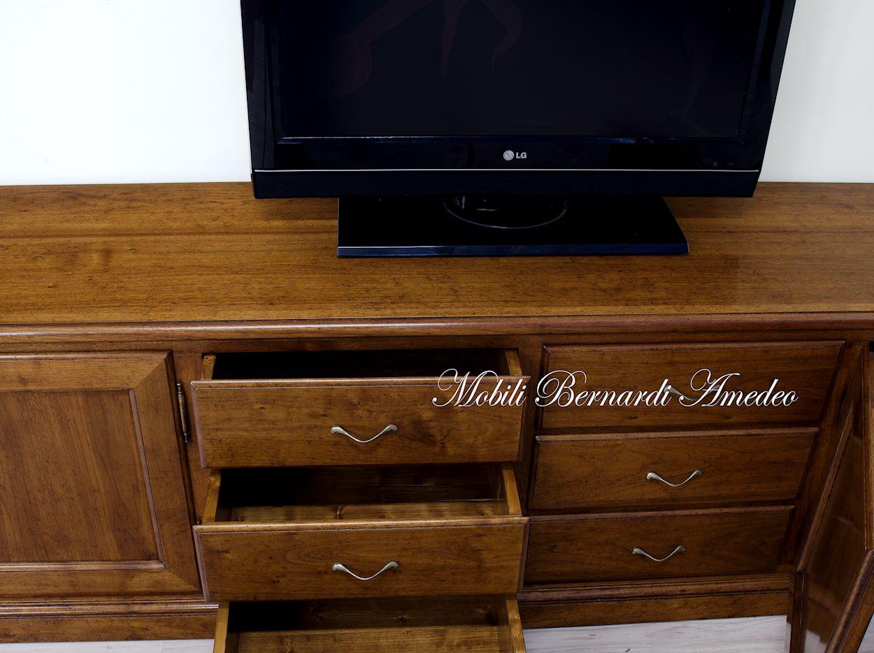 Mobili Tv Noce: Con porta tv finiture bianco anticato e noce ...