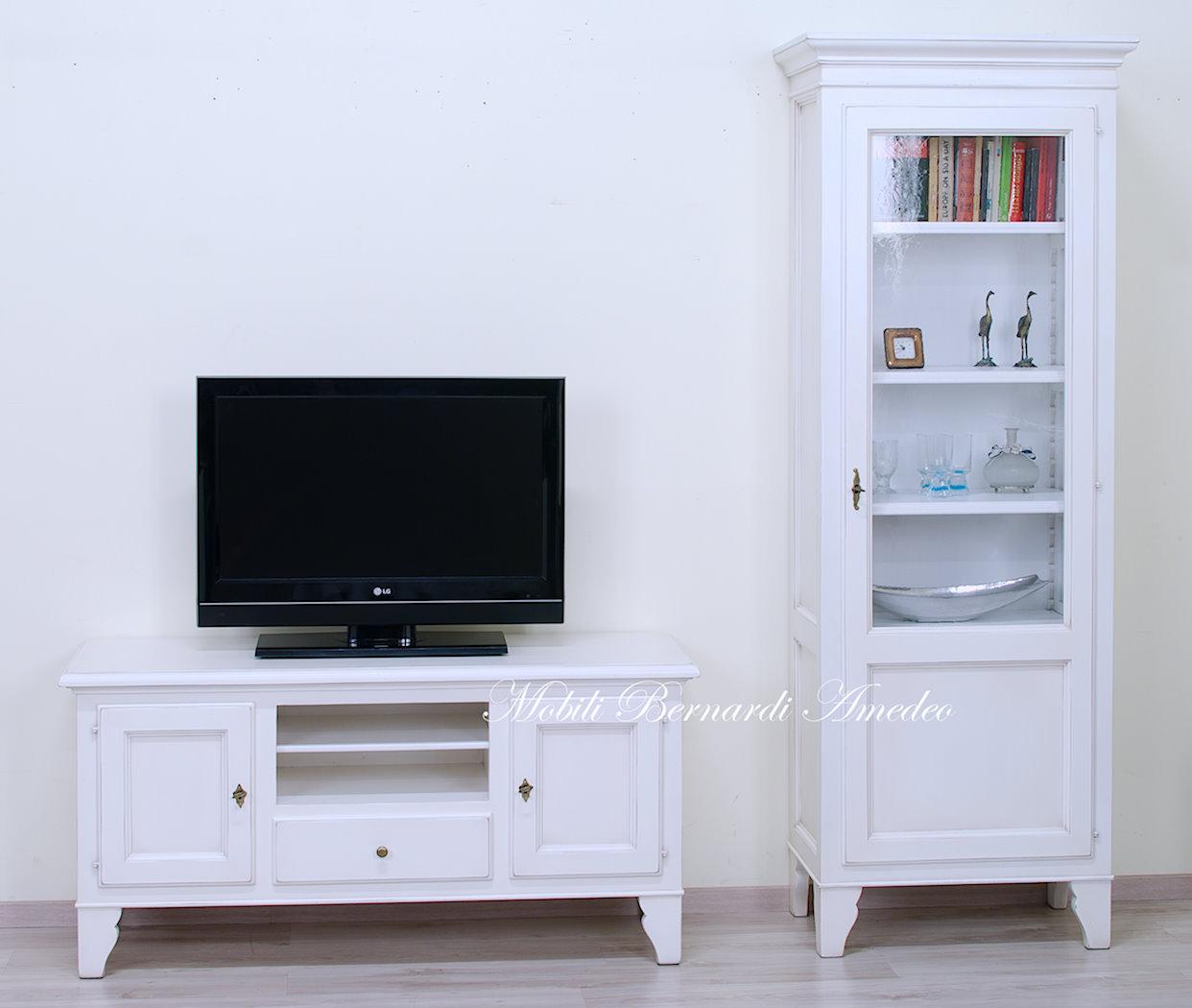 Mobili tv country in legno porta tv - Mobili stile inglese bianco ...
