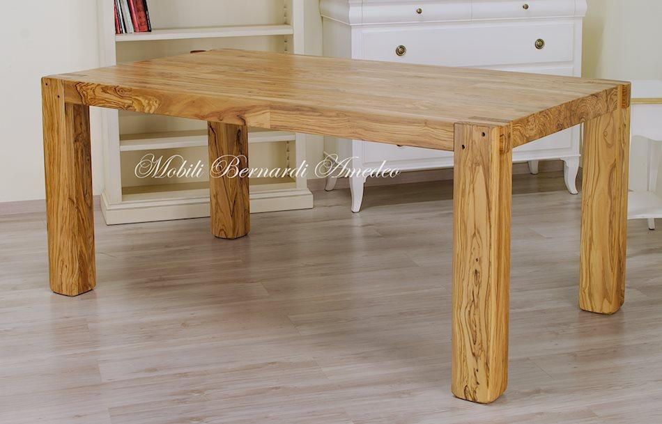 Tavoli e tavolini in ulivo massello tavoli - Tavoli da pranzo allungabili legno massello ...