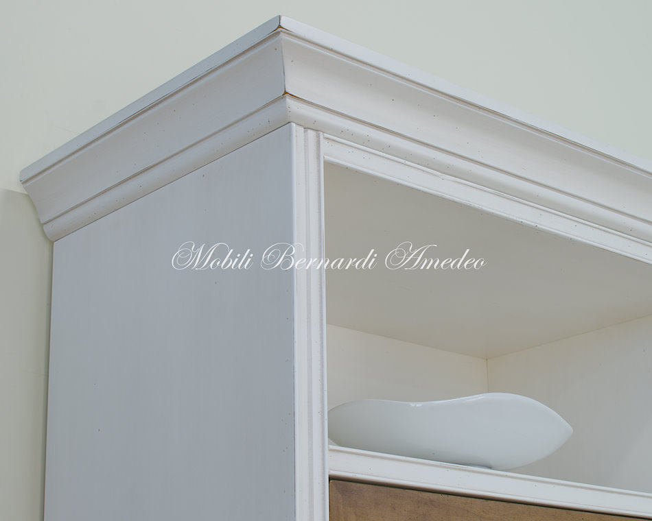 Parete Attrezzata Classica Finitura Bianco E Noce ~ Tutto su ispirazione design casa