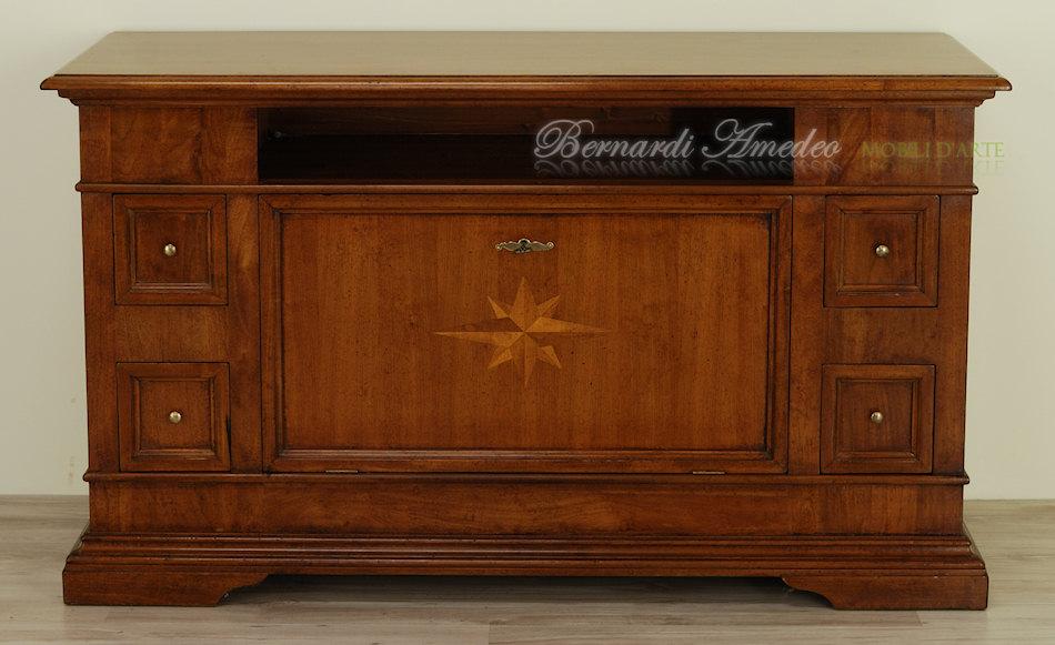 Porta tv noce massello porta tv - Tasselli in legno per mobili ...