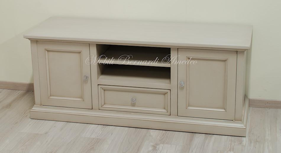 Porta tv in legno laccati 2 porta tv - Porte colore avorio ...
