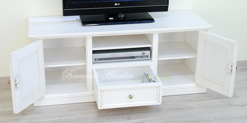 Porta tv in legno laccati 2 porta tv - Mobile porta tv bianco ikea ...