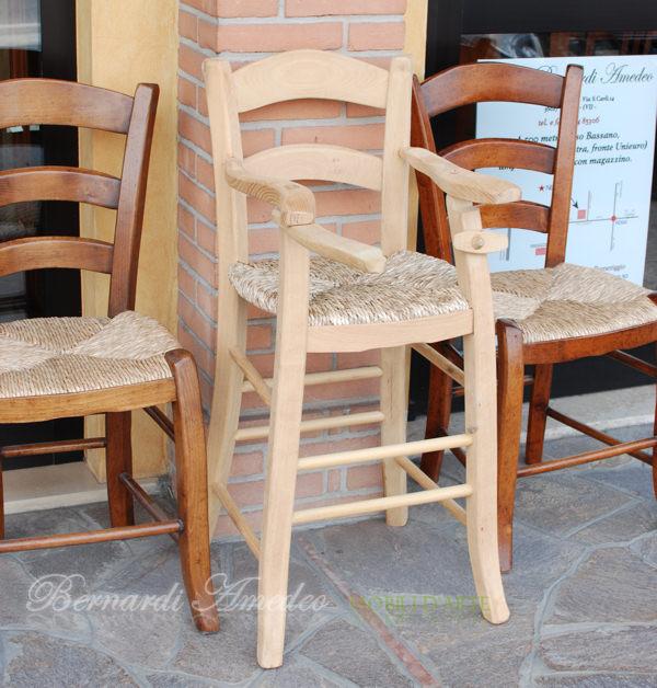 Sedie capotavola e dondoli campagnoli fatti a mano sedie for Divanetti per bambini