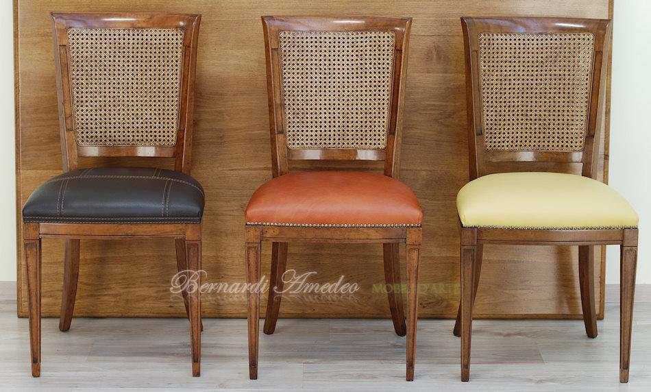 Sedie e poltroncine in noce sedie poltroncine divanetti for Sedie pelle e legno