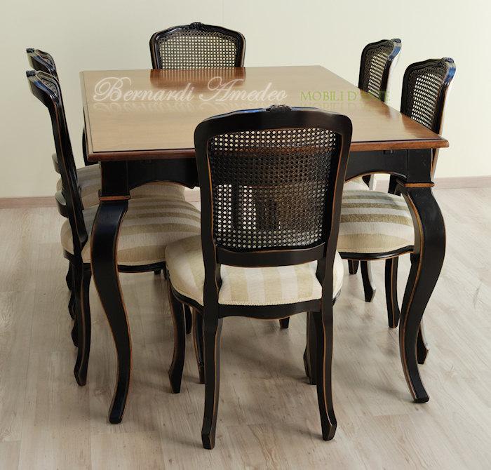 Stessa sedia poltroncina con finitura laccata nero consumato e seduta ...