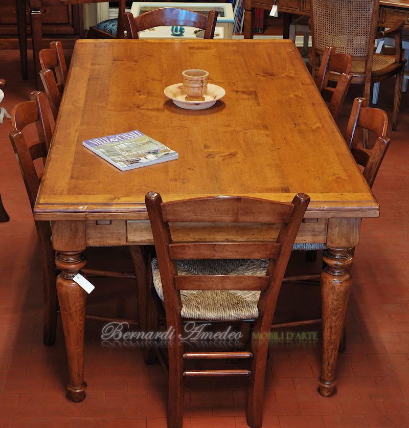 Tavoli allungabili in abete massello tavoli for Tavoli rettangolari allungabili in legno
