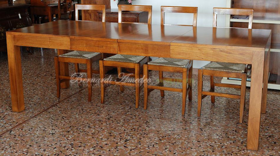 tavolo allungabile moderno legno : TA35 - Tavolo allungabile in noce nazionale, stile moderno, 140x90.