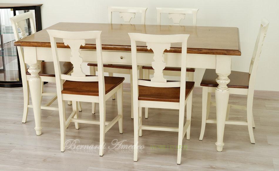 Tavoli country da cucina in legno massello tavoli for Tavolo da pranzo con sedie