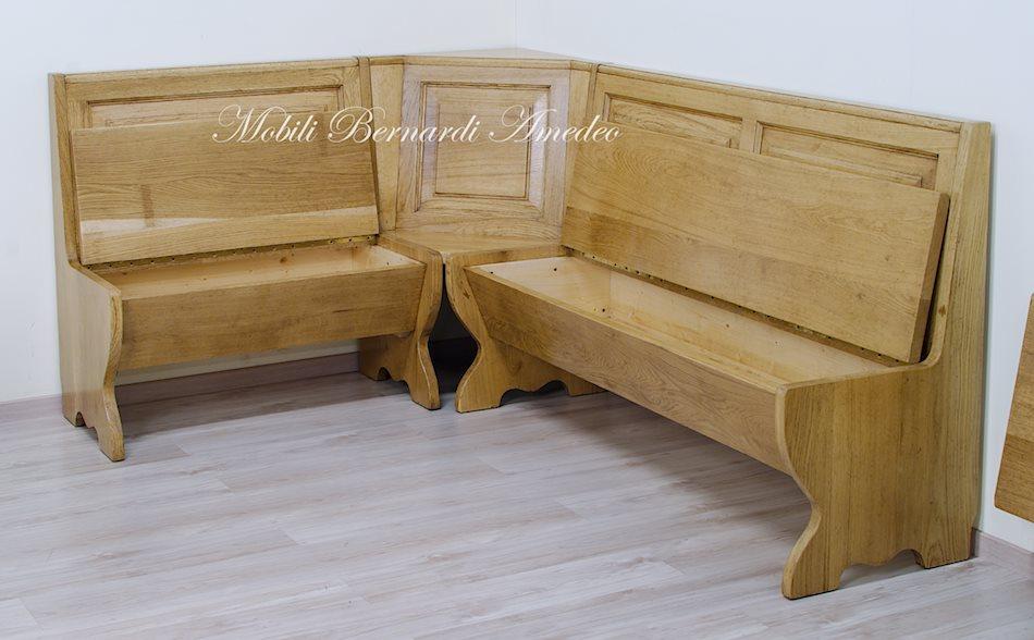 Panca ad angolo per cucina o taverna tavoli - Cassapanca in legno ikea ...