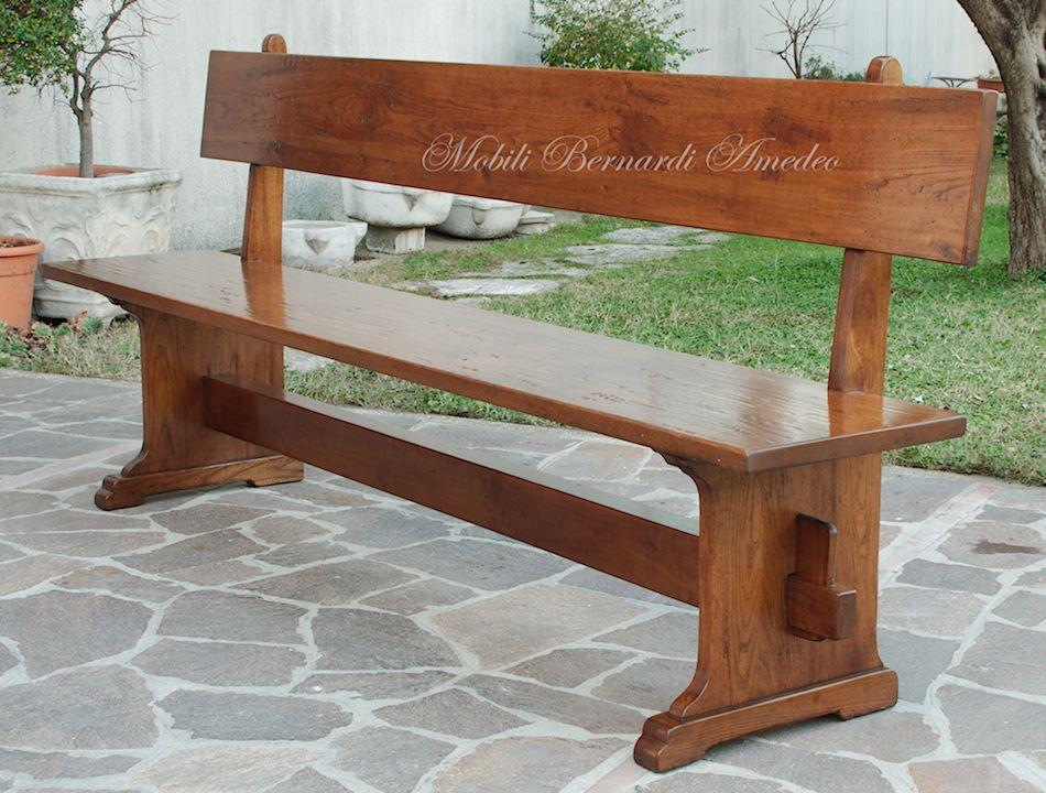 Tavoli da giardino in legno con panca mobilia la tua casa - Panca contenitore esterno ...