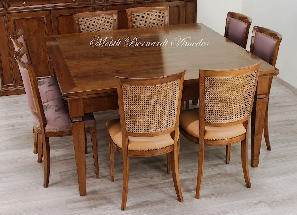 Tavoli allungabili in noce 12 tavoli - Tavolo consolle allungabile stile classico ...