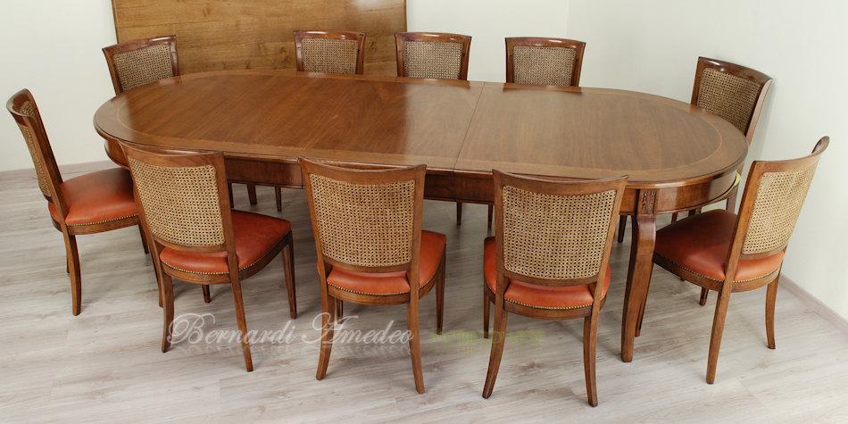 Tavoli rotondi e ovali allungabili 5 tavoli for Tavolo 10 persone