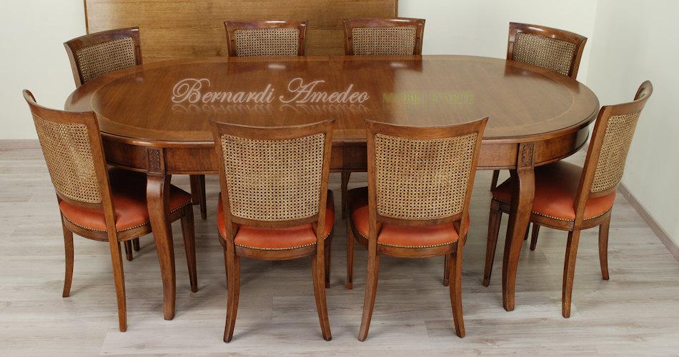 Tavoli rotondi e ovali allungabili 5 tavoli - Tavolo consolle allungabile stile classico ...