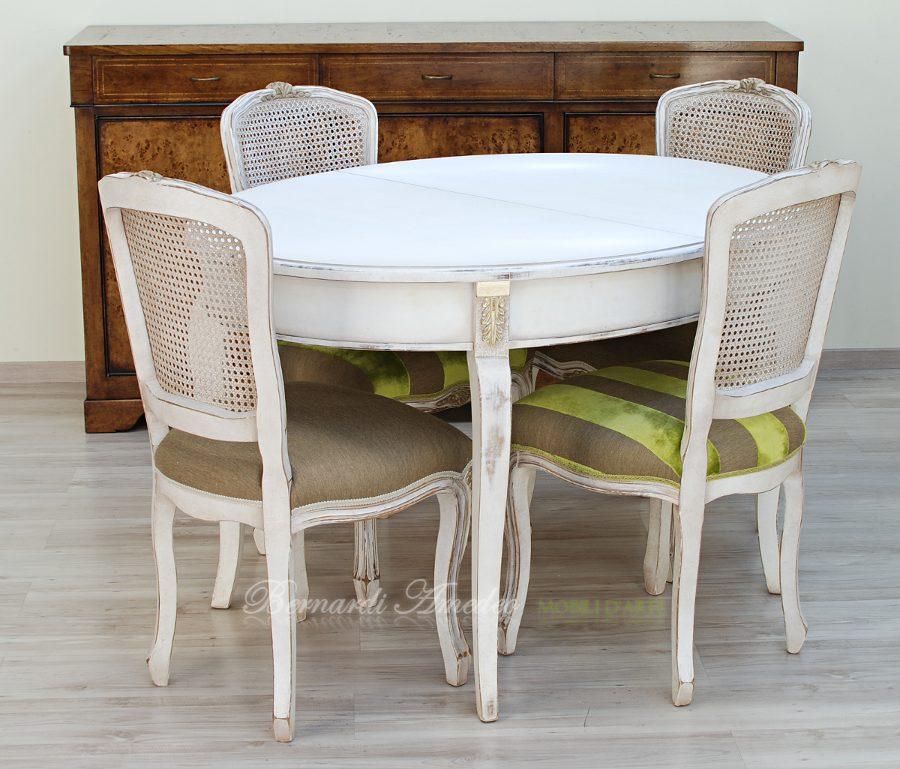 Tavoli rotondi e ovali allungabili 3 tavoli - Tavolo ovale bianco ...