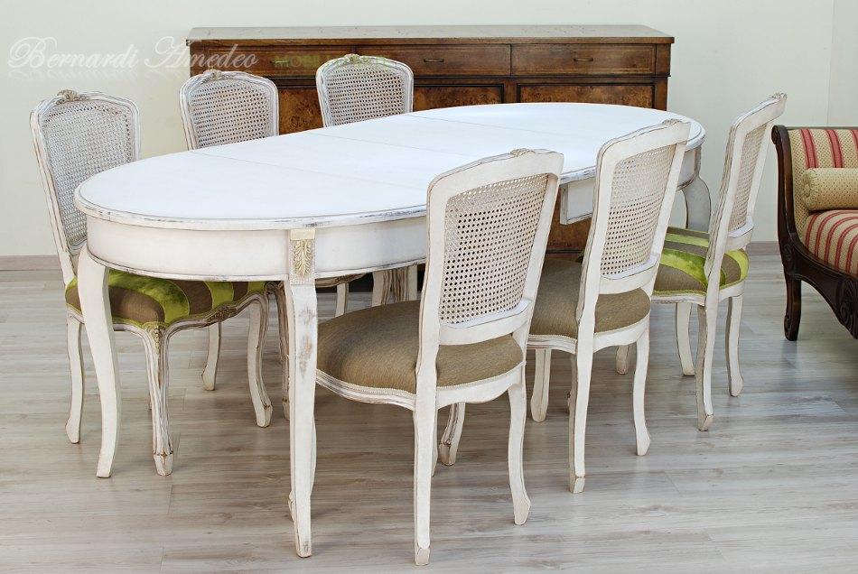 Casa immobiliare accessori tavolo ovale bianco - Tavolo bianco ovale allungabile ...