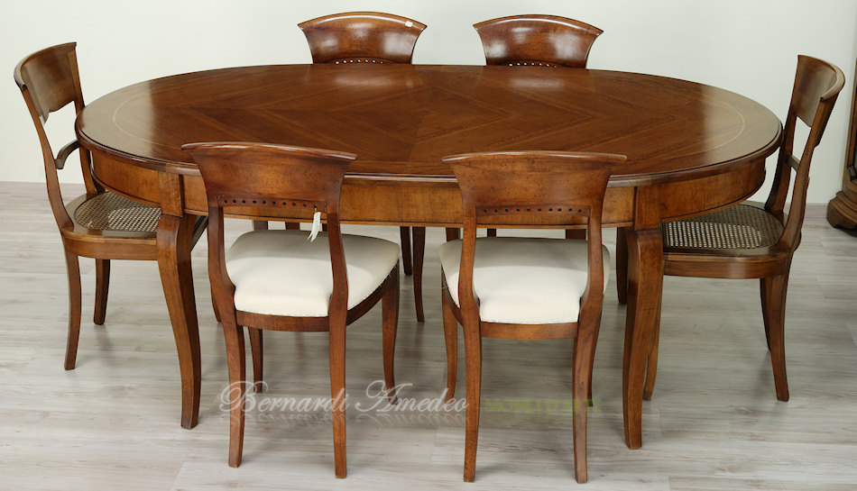 Tavoli ovali e rotondi non allungabili tavoli for Tavolo da pranzo ovale