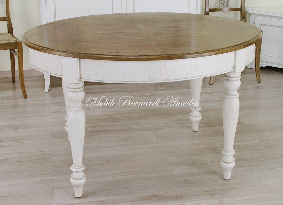 Tavoli stile classico rotondi e ovali 6 tavoli - Tavolo rotondo allungabile bianco ...