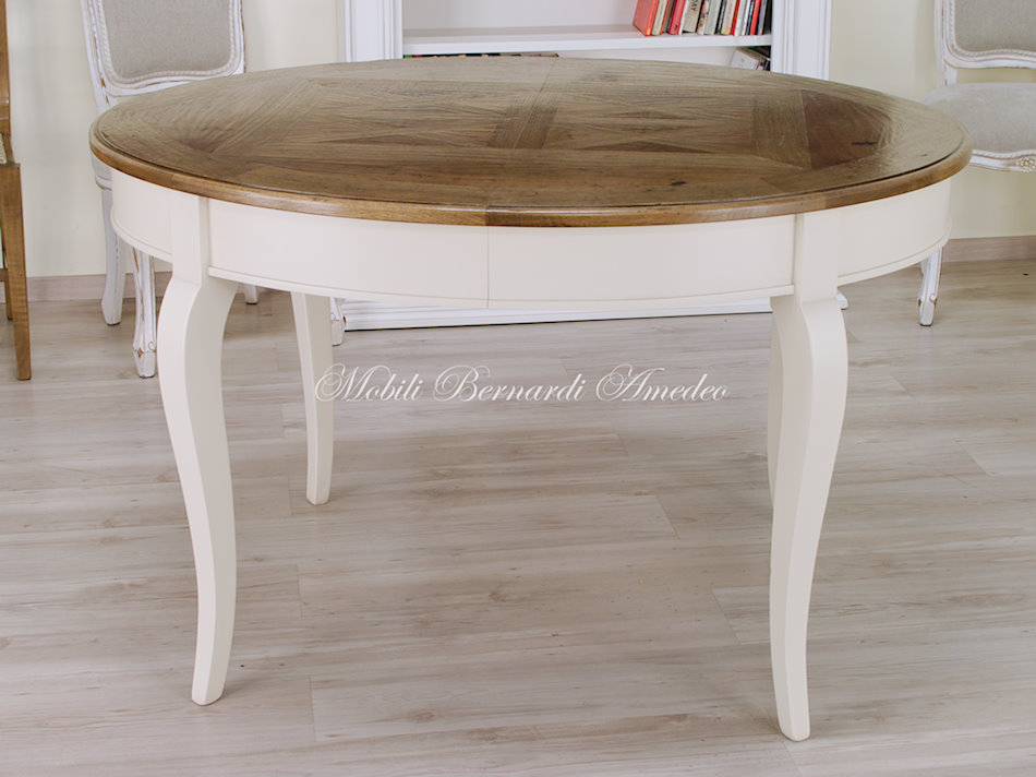 Tavoli stile classico rotondi e ovali 6 tavoli - Tavoli da cucina rotondi allungabili ...