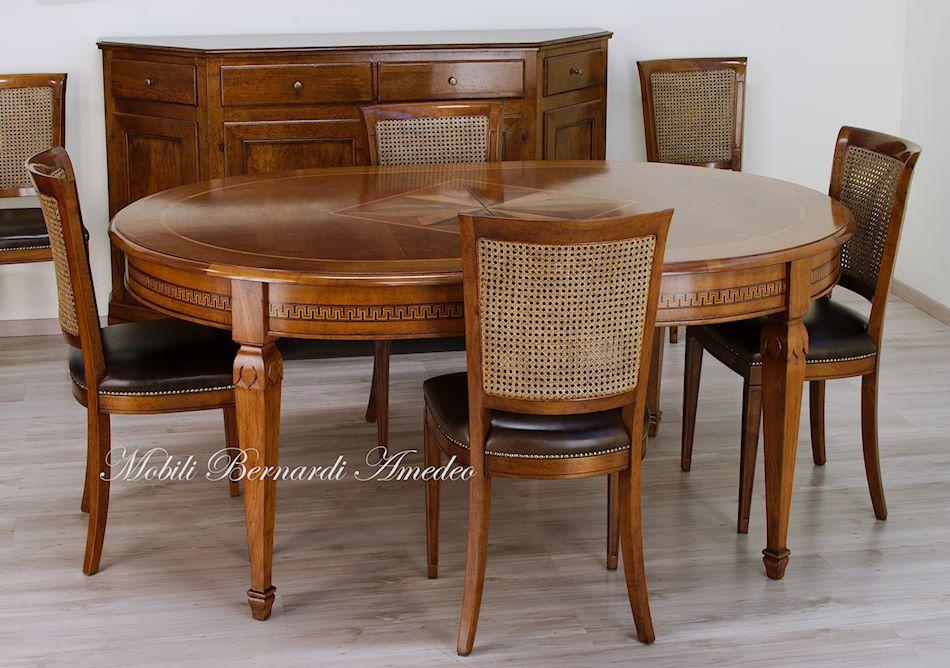 Tavoli allungabili ovali e rotondi 7 tavoli - Tavolo in noce nazionale ...