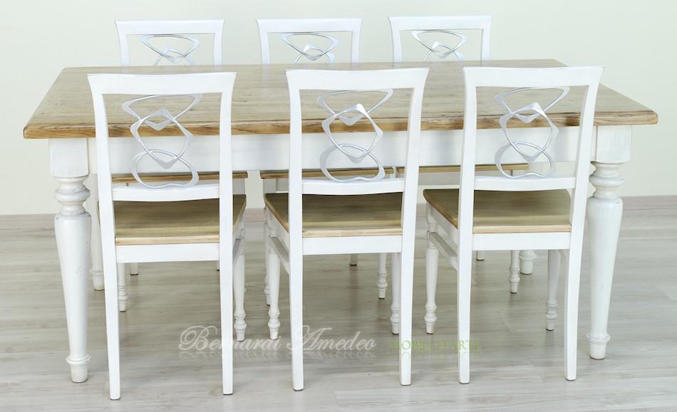 Tavolo da cucina in rovere massello e abete tavoli for Tavolo cucina e sedie