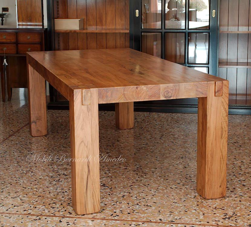 Tavoli e tavolini in ulivo massello tavoli for Tavoli moderni in legno