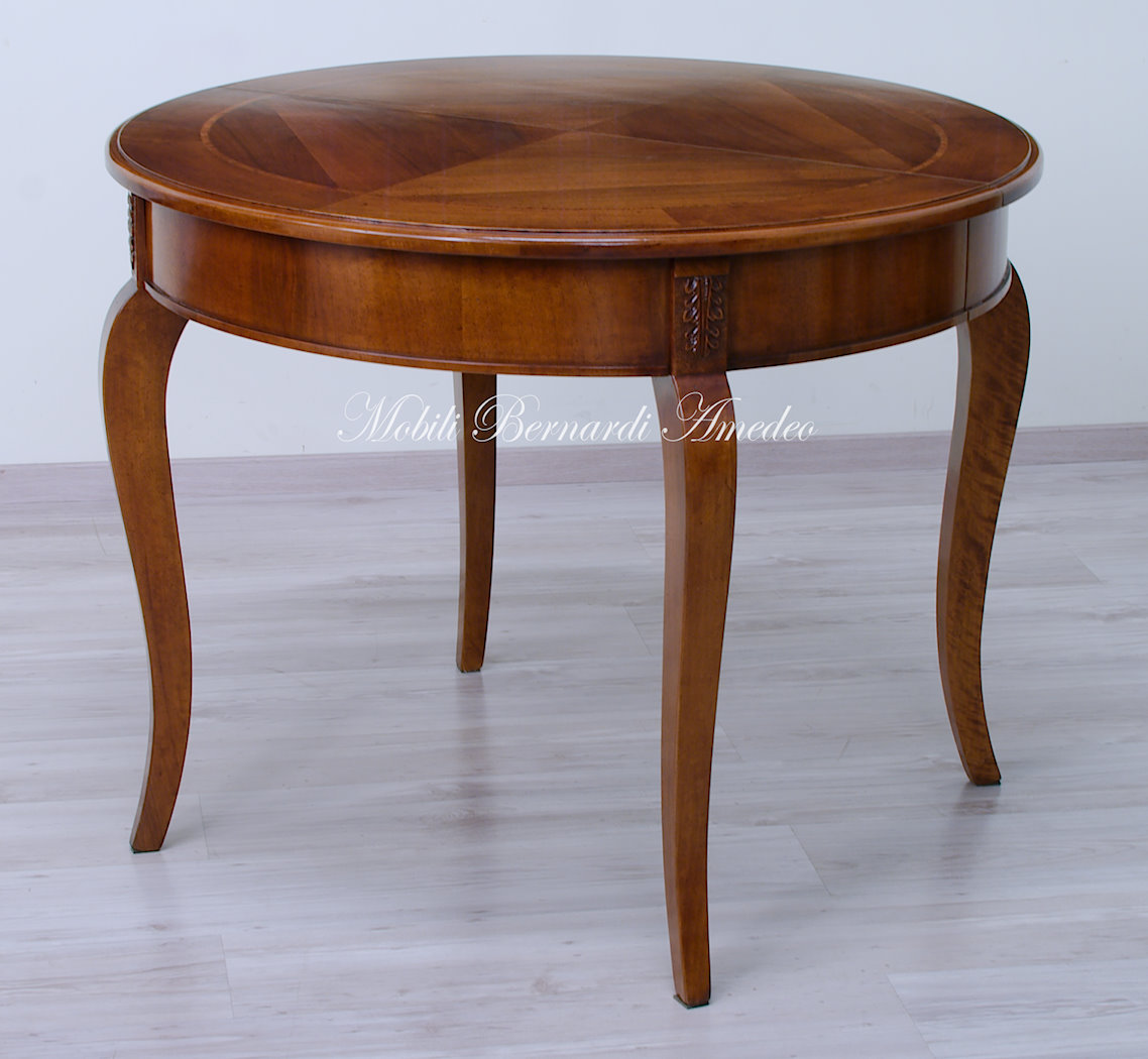 Tavoli ovali e rotondi allungabili 2 tavoli for Tavoli allungabili