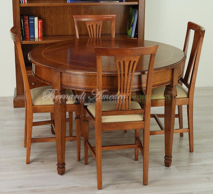 Tavolo rotondo allungabile 4 tavoli for Tavoli in legno allungabili