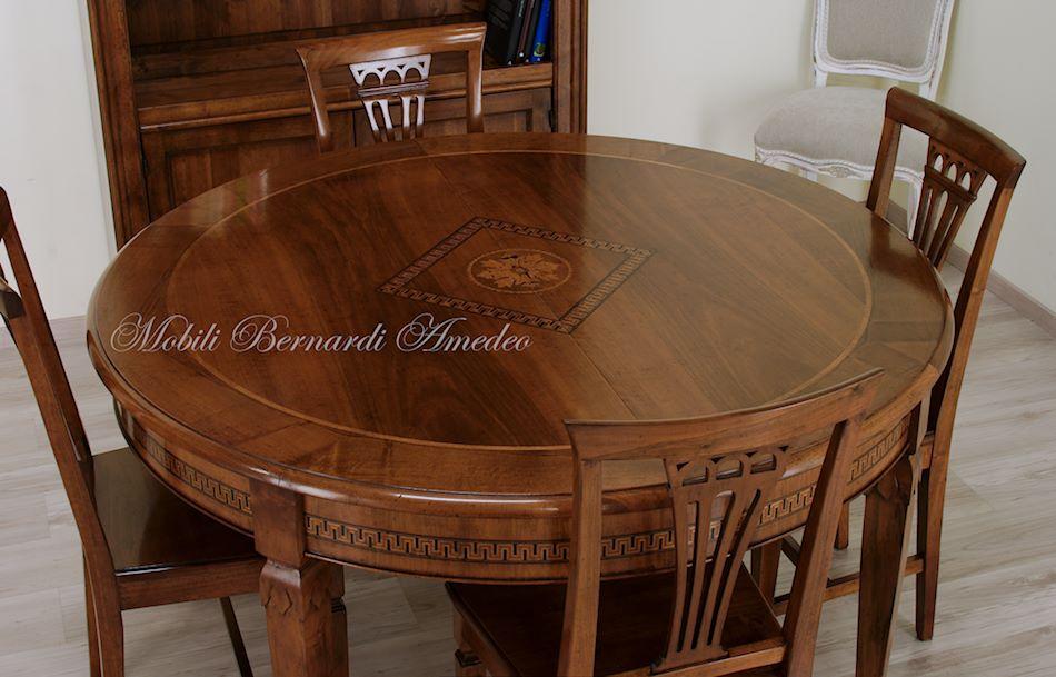 Tavoli rotondi e ovali allungabili 5 tavoli - Tavolo rotondo con piede centrale ...