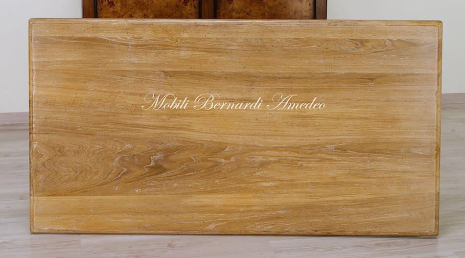Tavoli country da cucina in legno massello tavoli - Piano cucina legno massello ...