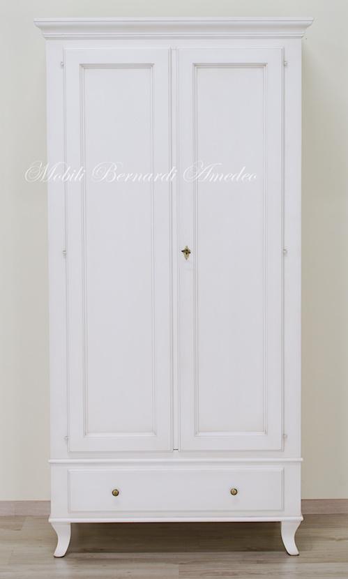 Armadietto da Pavimento Armadietto di Stoccaggio in Legno Mobile Armadietto Legno Bianco 2 Ante con 2 Cassetti per Ingresso Ufficio Bagno Armadietto da Terra Legno Interna 66 cm x 33 cm x 73,5 cm