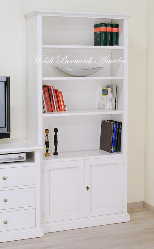 Libreria Porta Tv Bianca.Libreria Con Porta Tv Librerie
