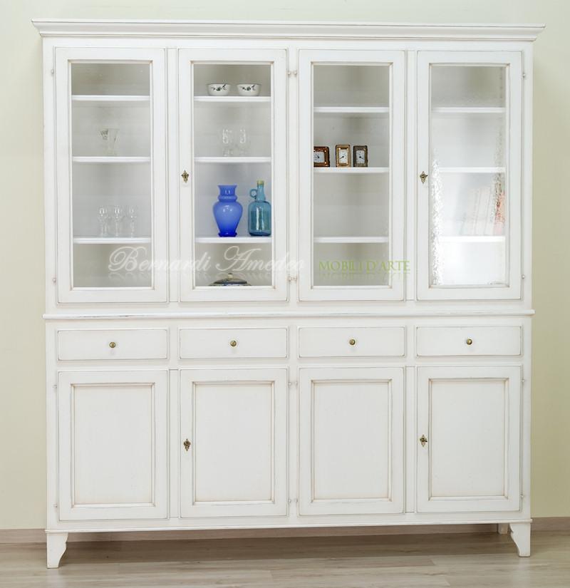 Credenza country con vetrina bianco avorio ultimi mobili aggiunti - Vetrina per cucina ...