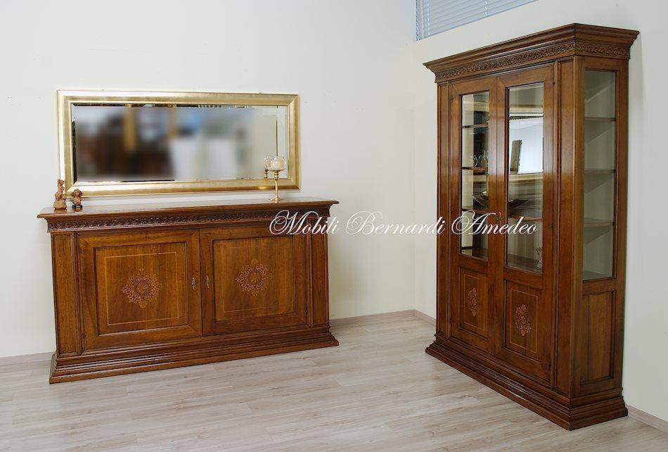 vetrine in noce per credenzoni 2 | vetrine - Soggiorno Noce Massello 2