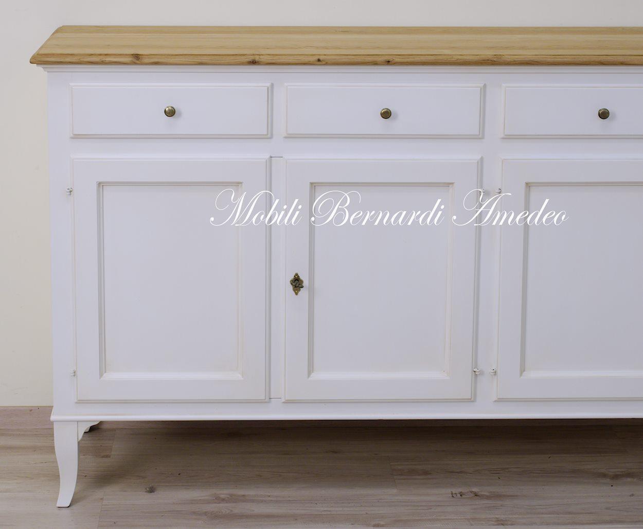 Credenza Con Alzata Bianca : Credenze in legno massello stile 800 veneto