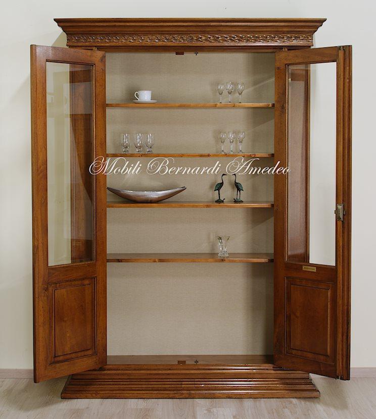 vetrine in noce per credenzoni 2 | vetrine - Soggiorno Noce Chiaro 2