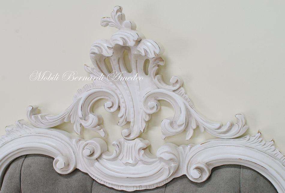 Letto 39 700 veneziano laccato ultimi mobili aggiunti for Letto stile barocco