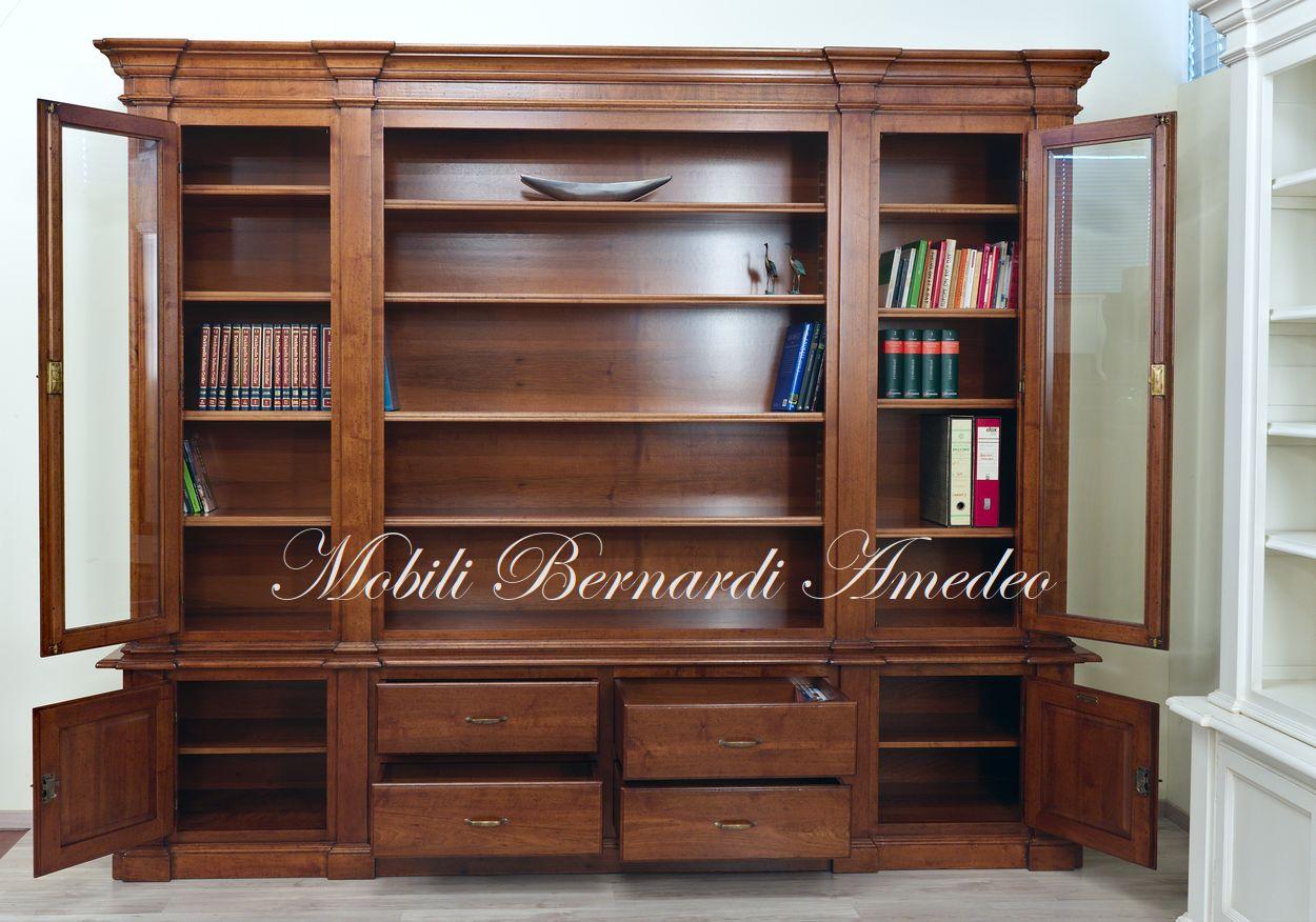 Libreria In Legno Noce.Librerie Classiche In Legno Librerie
