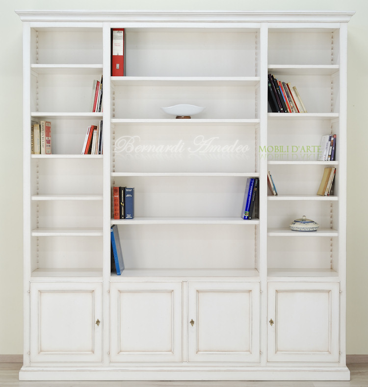 Libreria con porta tv librerie for Librerie in legno componibili