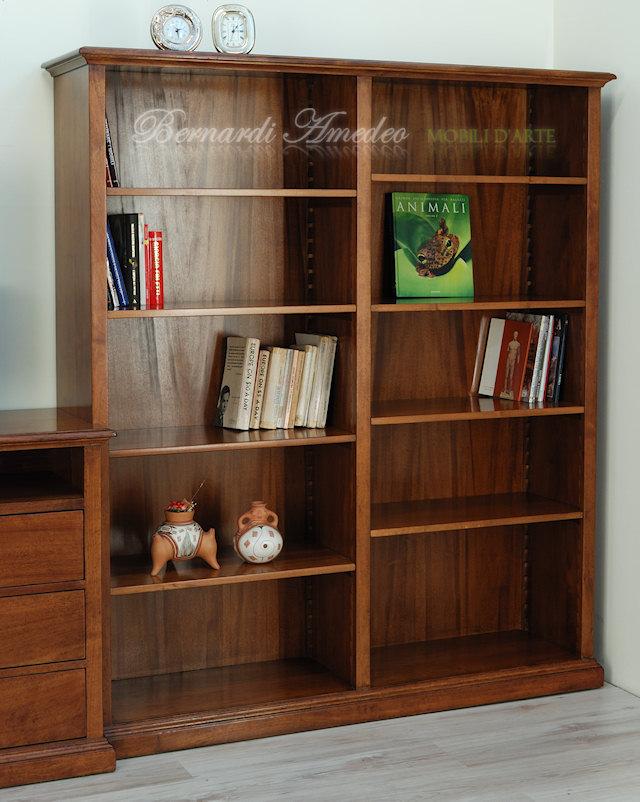Vetrineinrete/® Mobile in legno mdf due ripiani mobiletto porta tv con ruote libreria portaoggetti Legno Naturale