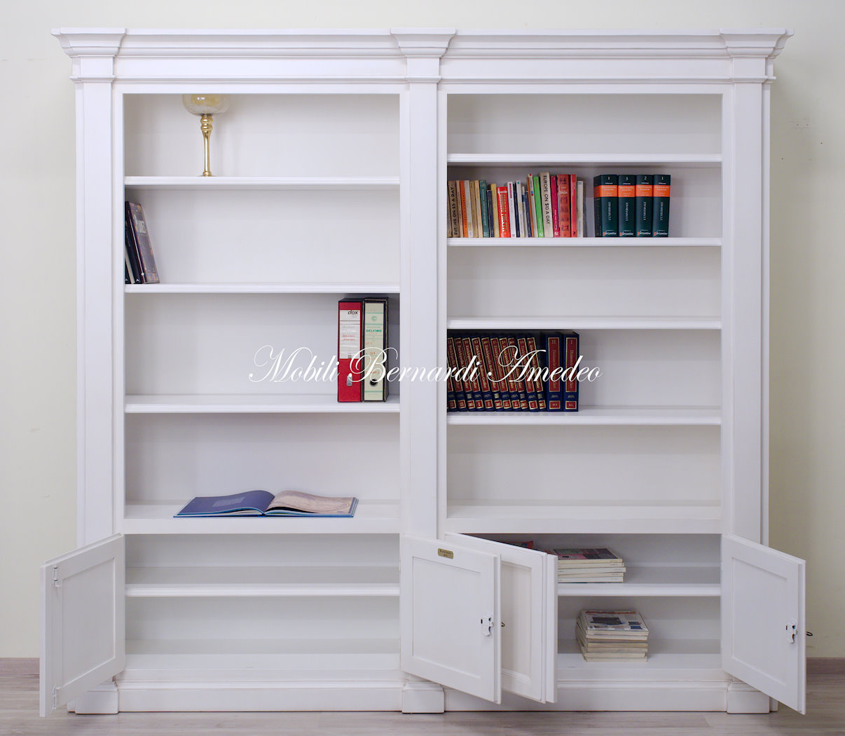 Libreria Bianca Con Ante In Vetro.Librerie In Stile 13 Librerie